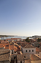 Croatia, View from tower of Euphrasian Basilica on old town of Porec - MS002887