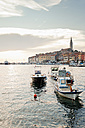 Croatia, View of harbour and Sv Eufremija Church at Rovinj - MS002895