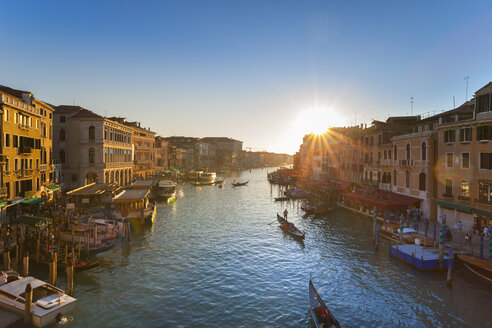 Italy, Venice, View of Grand Canal at dusk - HSIF000158