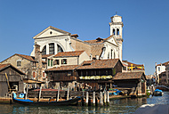Italy, Venice, Traditional gondola at San Trovaso - HSIF000206