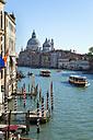 Italy, Venice, View of Canal Grande at Santa Maria della Salute church - HSIF000210
