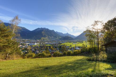 Austria, Vorarlberg, View of Klostertal valley towards Bludenz - SIEF003608