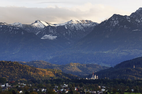 Austria,Vorarlberg, View of Fortified Liebfrauenbergkirche - SIEF003629