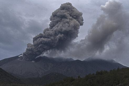 Japan, View of eruption at Sakurajima - MR001288