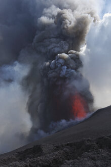 Italy, Sicily, View of lava erupting from Mount Etna - MRF001308