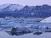 Iceland, View of Jokulsarlon Glacial lake near Vatnajokull National Park - BSCF000258