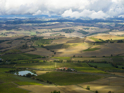 Italy, View of Tuscany from Montalcino - LF000528