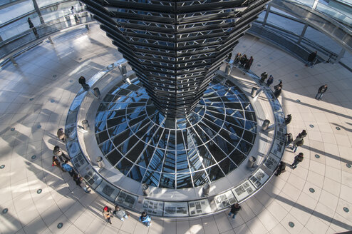 Germany, Berlin, Interior of Reichstag dome - CB000003