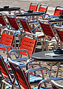 Germany, Empty tables and chairs at Minden - HOHF000150