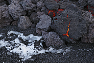 Iceland, View of lava rock from Eyjafjallajokull Fimmforduhals, 2010 - MR001366