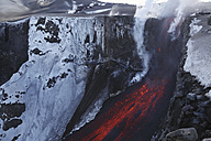 Iceland, View of lava erupting from Eyjafjallajokull Fimmforduhals, 2010 - MR001374