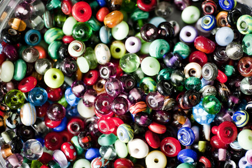 Germany, Bavaria, Variety of glass beads for making jewel - RNF001193