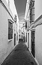 Spain, View of alley in Arcos de la Frontera, close up - WVF000336