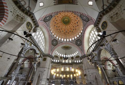 Turkey, Istanbul, Interior of Suleiman Mosque at Istanbul - LH000028