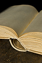 Old book of empty pages,close up - LVF000006