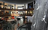 United Arab Emirates, Dubai, Waterfall at mall - LH000059