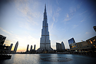 United Arab Emirates, Dubai, View of Burj Khalifa tower - LH000048