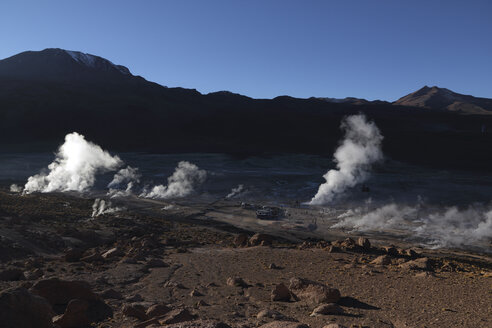 Chile, View of Tatio Geyser field - RM000505