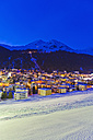 Switzerland, Davos, view of city - WDF001722