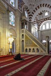 Turkey, Istanbul, Man praying at Sehzade Mosque - LH000077