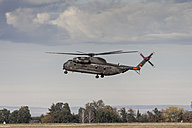 Germany, Laupheim, German CH-53 helicopter flying in air - HA000019
