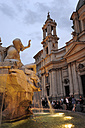 Italy, Rome, Fountain of Four Rivers on Piazza Navona square - MIZ000322