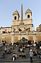 Italy, Rome, People sitting on Spanish Steps - MIZ000336