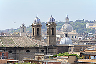 Italy, Rome, View over roofs to churches - MIZ000327