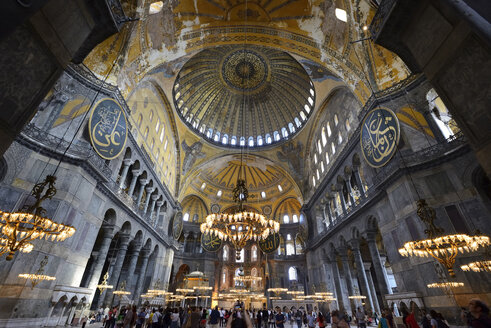 Turkey, Istanbul, Interior of Hagia Sophia - LH000093
