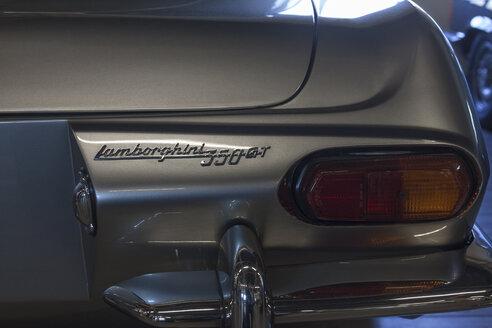 Germany, Bavaria, Rear view of Lamborghini 350GT, close up - HA000052