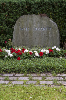 Germany, Berlin, Memorial grave Willy Brandt, Chancellor - CB000027
