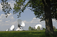 Germany, Bavaria, View of Satellite dish at Raisting - CR002417