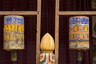 Bhutan, Prayer wheels at Trongsa dzong - HL000142