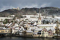Switzerland, View of old town of Stein am Rhein in Winter - EL000048