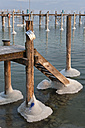 Germany, Jetty and mooring posts in Lake Constance - SH000700