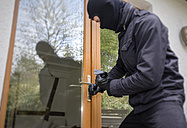 Germany, North Rhine Westphalia, Burglary opening door - ON000189