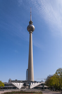 Germany, Berlin, View of television tower at Alexanderplatz square - CB000066