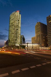 Germany, Berlin, View of Potsdamer Platz square at night - CB000085