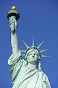 USA, New York State, New York City,  View of Statue of Liberty at Liberty Island, close up - RUEF001060