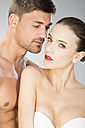 Young couple falling in love, close up - MAEF006712