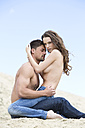 Germany, Bavaria, Young couple falling in love - MAEF006729