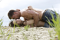Germany, Bavaria, Young couple falling in love - MAEF006735