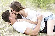 Germany, Bavaria, Young couple falling in love - MAEF006736