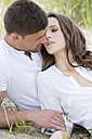Germany, Bavaria, Young couple falling in love, close up - MAEF006741