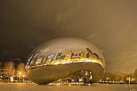United States, Illinois, Chicago, View of Cloud Gate and Millennium Park - FO005128