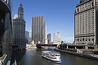 United States, Illinois, Chicago, View of Excursion ship on Chicago River - FO005122