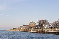 United States, Illinois, Chicago, View of Adler Planetarium at Lake Michigan - FO005140