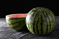 Watermelons on textile, close up - CSF019328