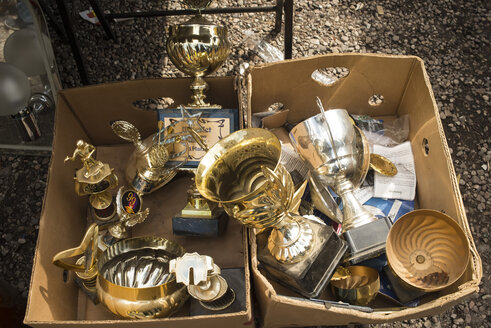 Germany, Berlin, Old trophies in flea market - FB000058