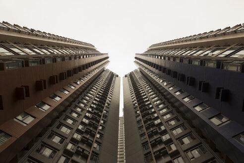 China, Hong Kong, View of high rise at Sheung Wan - SJF000029